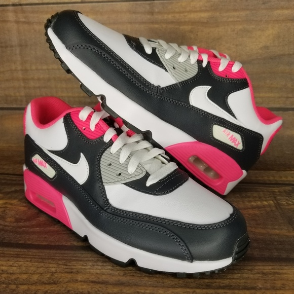 Nike Air Max 90 LTR GS Anthracite White Pink NWT